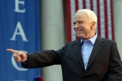 Senator John McCain campaigns with Senator Joe Lieberman in Pennsylvania, September 22, 2008