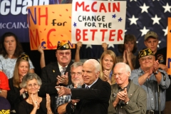Senator John McCain campaigns with veterans, 2008