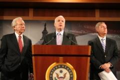 Senators Joe Lieberman, John McCain, Lindsey Graham hold press conference, 2009
