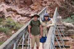 John and Jack McCain climb the Grand Canyon rim to rim, 2006