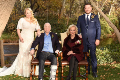 Meghan, John and Cindy McCain, and Ben Domenech at Meghan and Ben's wedding, 2017