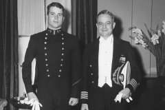John McCain and father at Naval Academy, 1956