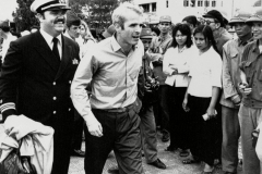 McCain is released from prision in Hanoi, Vietnam, March 13, 1973