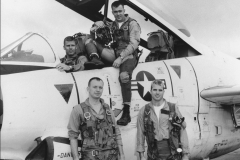 John McCain with squadron in front of A4 Skyhawk, 1965