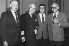 John McCain working as Senate Navy Liaison with Senators John Glenn, Bill Cohen, Barry Goldwater, 1980